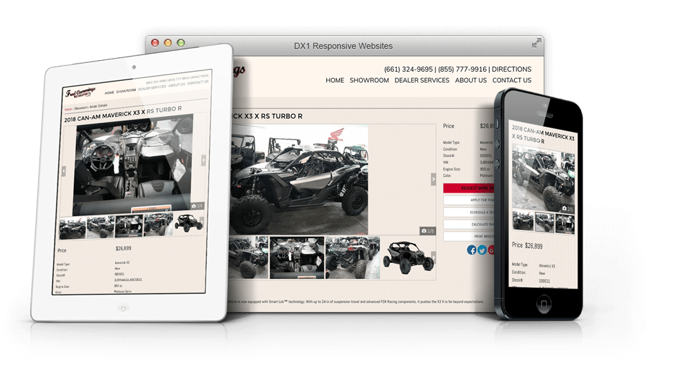 DX1 Responsive Website Design example