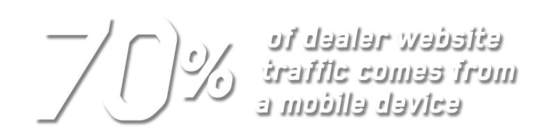 70% of dealer website traffic comes from a mobile device